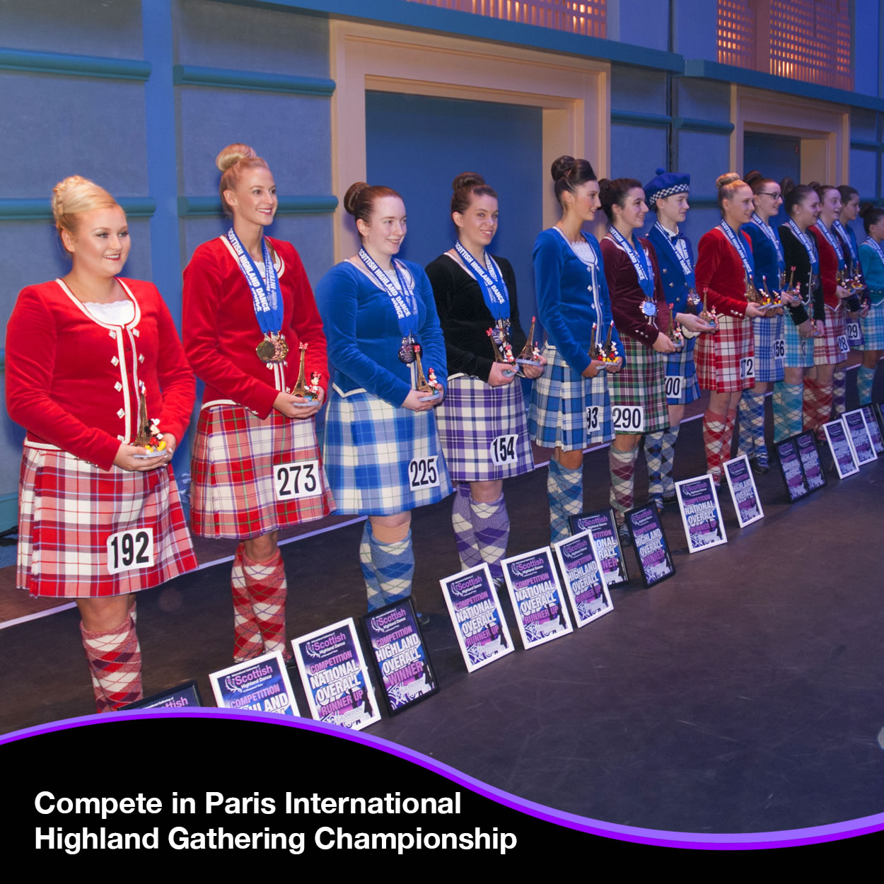 Compete in the Paris International Highland Gathering Championship